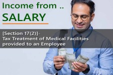 [Section 17(2)]- Tax Treatment of Medical Facilities provided to an Employee  – for Computing Salary Income