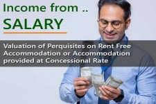 Valuation of Perquisites on Rent Free Accommodation or Accommodation provided at Concessional Rate under Income Tax Act - for computing Salary Income