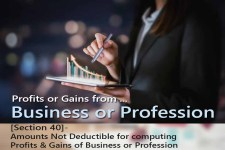 [Section 40]- Amounts Not Deductible   for computing  Profits & Gains of Business or Profession