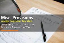 Advance Payment of Tax [Section 207-211, 218, & 219]