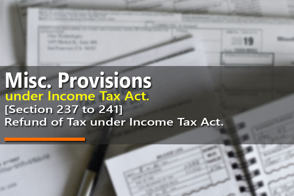 Refund of Tax under Income Tax Act. [Section 237 to 241]