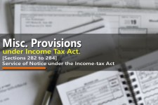 Service of Notice under the Income-tax Act [Sections 282 to 284]