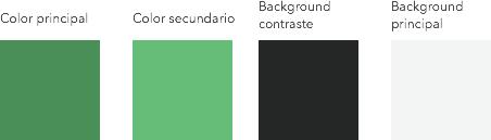 La paleta de colores que hemos creado manualmante.