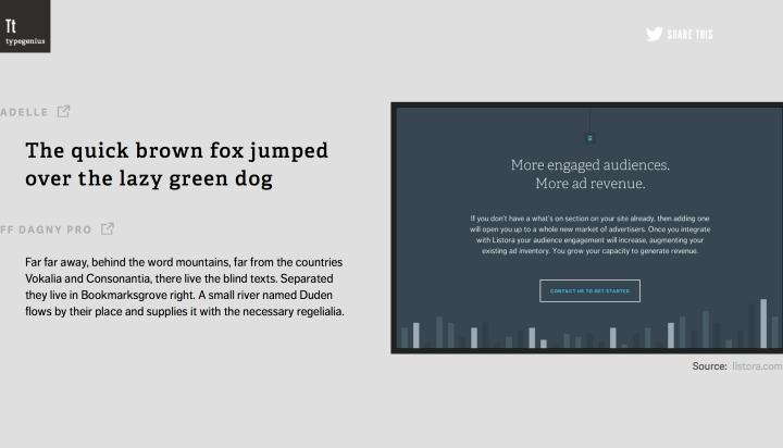 Typegenius, una gran herramienta para combinar tipos de fuentes