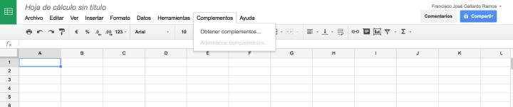 Instalando complementos en Google Drive