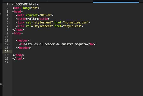 Nuestro html con nuestro header.