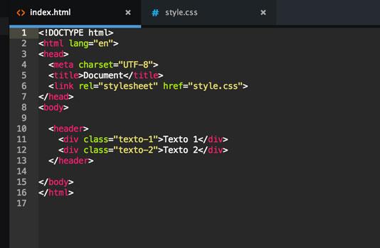 El index.html de nuestro ejemplo 2.