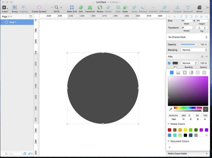 Creando la base del icon en Sketch