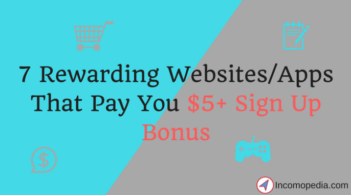 websites that pay you to sign up