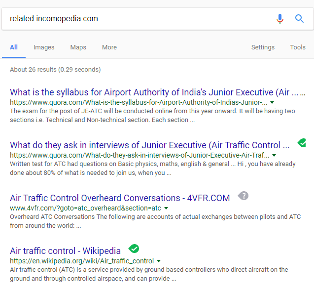 related search google example