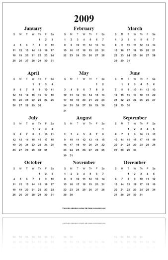 free online calendar pdf