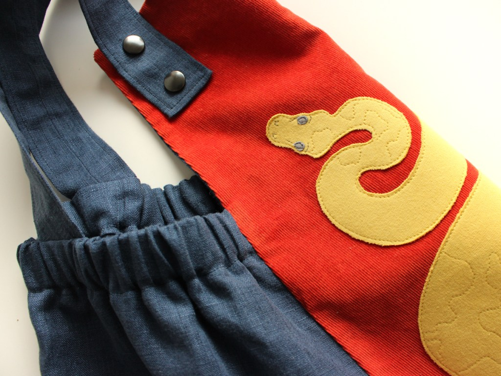Close up of Version A Treasure Hunter Pinafore