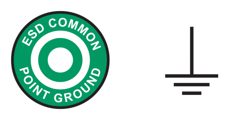 small resolution of figure 3 the common ground point symbol from ansi s8 1 at left