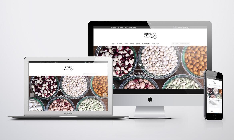 Uprising Seeds Ecommerce Website