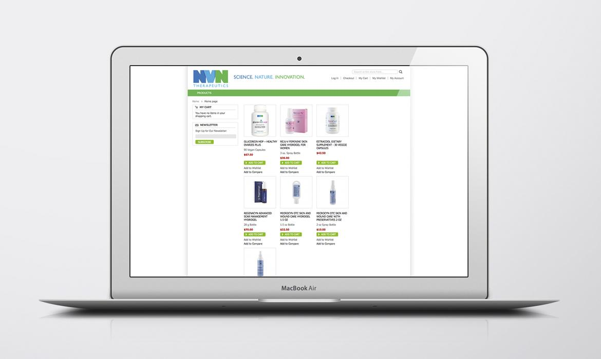 NVN Store home page