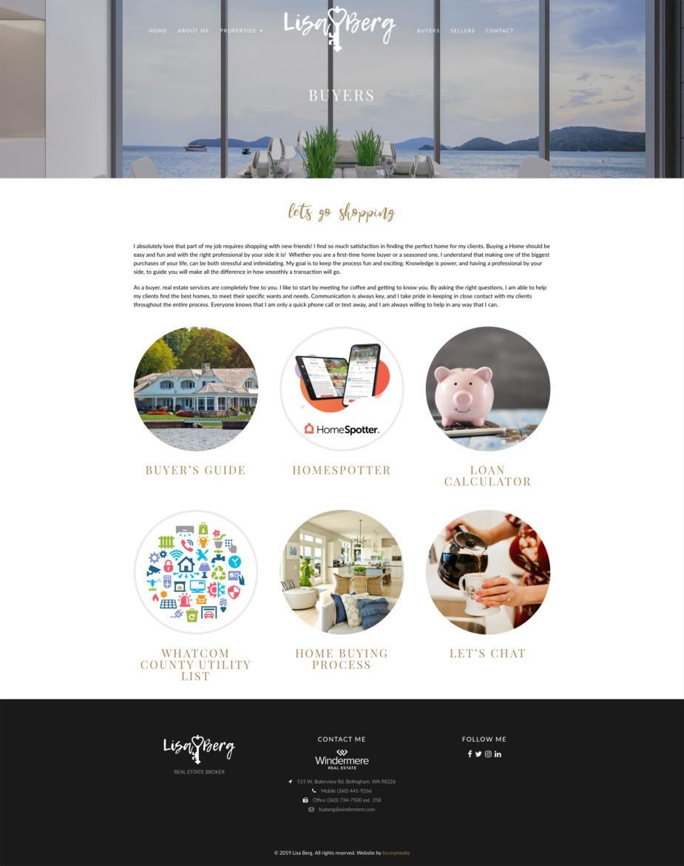 Lisa Berg Real Estate Website Design Buyers