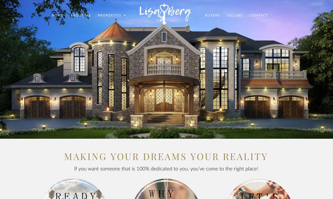 Lisa Berg Real Estate Website Design