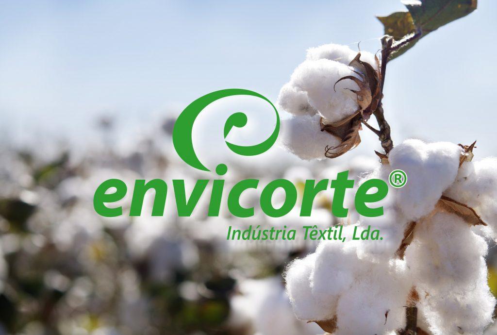 Logotipo da Envicorte, empresa que faz acessórios para vestuário e têxtil lar