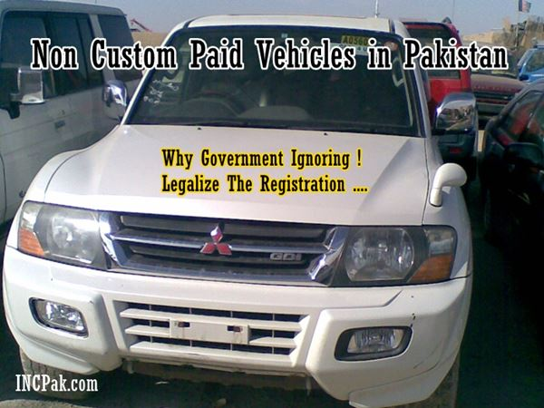 Government Should Allow Registration Of Non Custom Paid