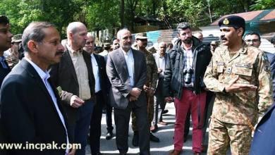 Photo of DG ISPR takes foreign diplomates to Neelum Valley