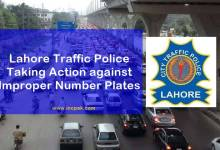 Photo of Lahore Traffic Police taking action against Improper Number Plates