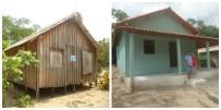 Aplicação de créditos concedidos pelo Incra proporciona melhoria nas condições de habitação a assentados no PAE Eixo Forte, Santarém, Pará.