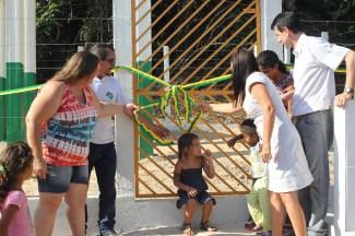 Inauguração do microssistema instalado no PDS Igarapé do Anta