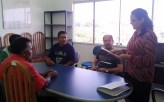 Representantes do Incra Oeste do Pará e STTR Santarém no ato de assinatura do termo de cooperação técnica