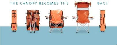 canopy chair into bag