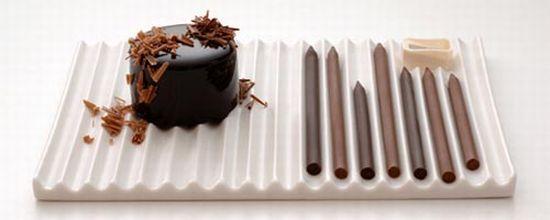 chocolate pencils and sharpener