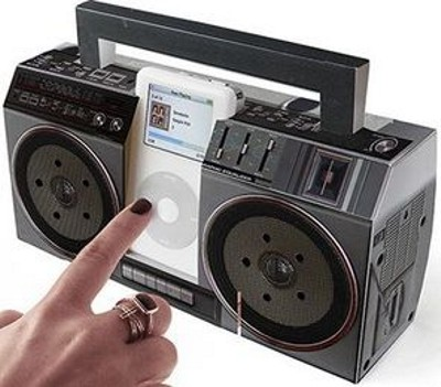 fold it yourself cardboard boom box for your ipod