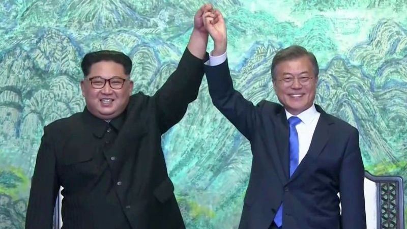 North and South Korea come together in peace
