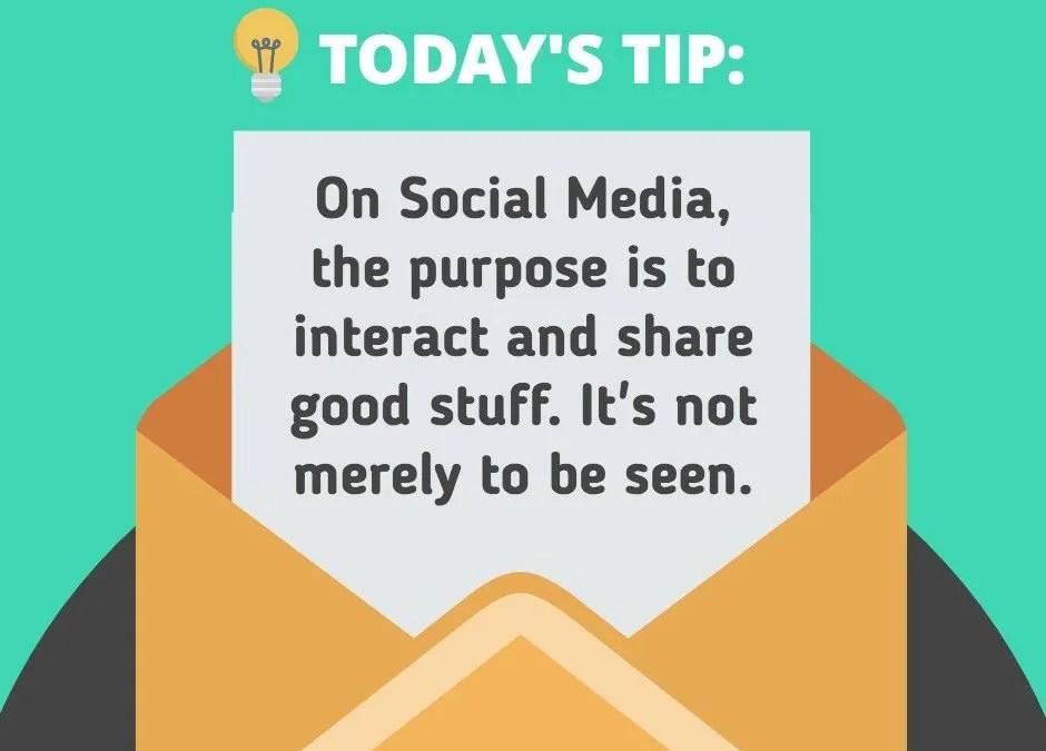 Use Social Media correctly