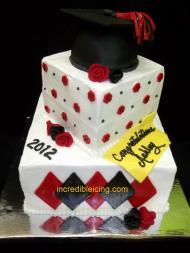 #103- Classic Graduation Cake