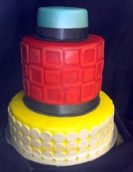 #414- colorful Cake