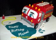 Fire Engine Party Cake