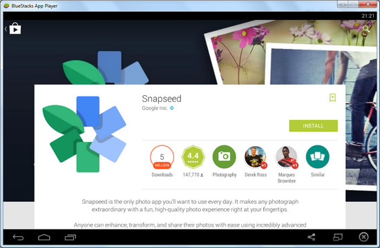 Download SnapSeed for PC