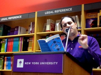 """Victor Infante read David Trinidad's """"Detective Notes,"""" as well his own and Anis Majgani's."""
