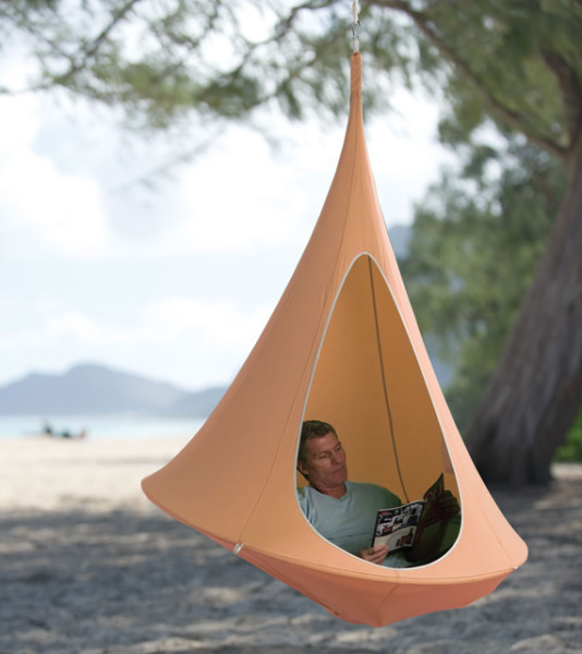 hammock chair swing stand chrome and leather chairs with arms rock & sway in a hanging cocoon | incredible things