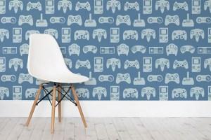 retro wall murals rec decor gaming mural gamer controller 1up parede papel ausretrogamer