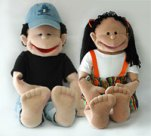 Wally and Molly Puppets