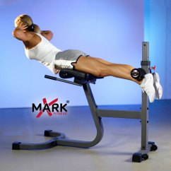 Commercial Gym Roman Chair 1 2 Chaise Xmark Fitness Ab Back Hyperextension Xm