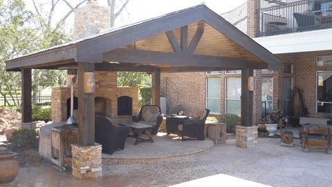 living with a patio pavilion increte