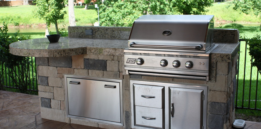 how to make an outdoor kitchen rubber mats your affordable increte of houston