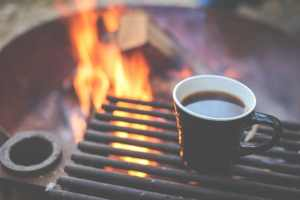 Camping Ardèche coin feu