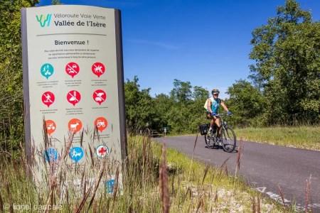 Véloroute Voie Verte Vallée de l'Isère à Valence
