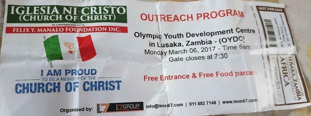 Zambia Ticket