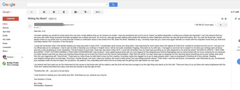 Bro. Philip Email
