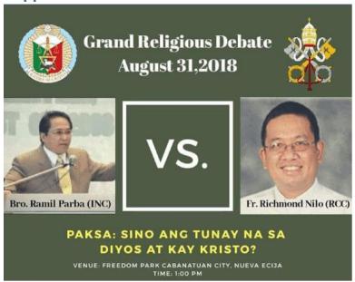 [2018.06.10] Grand Religious Debate Poster