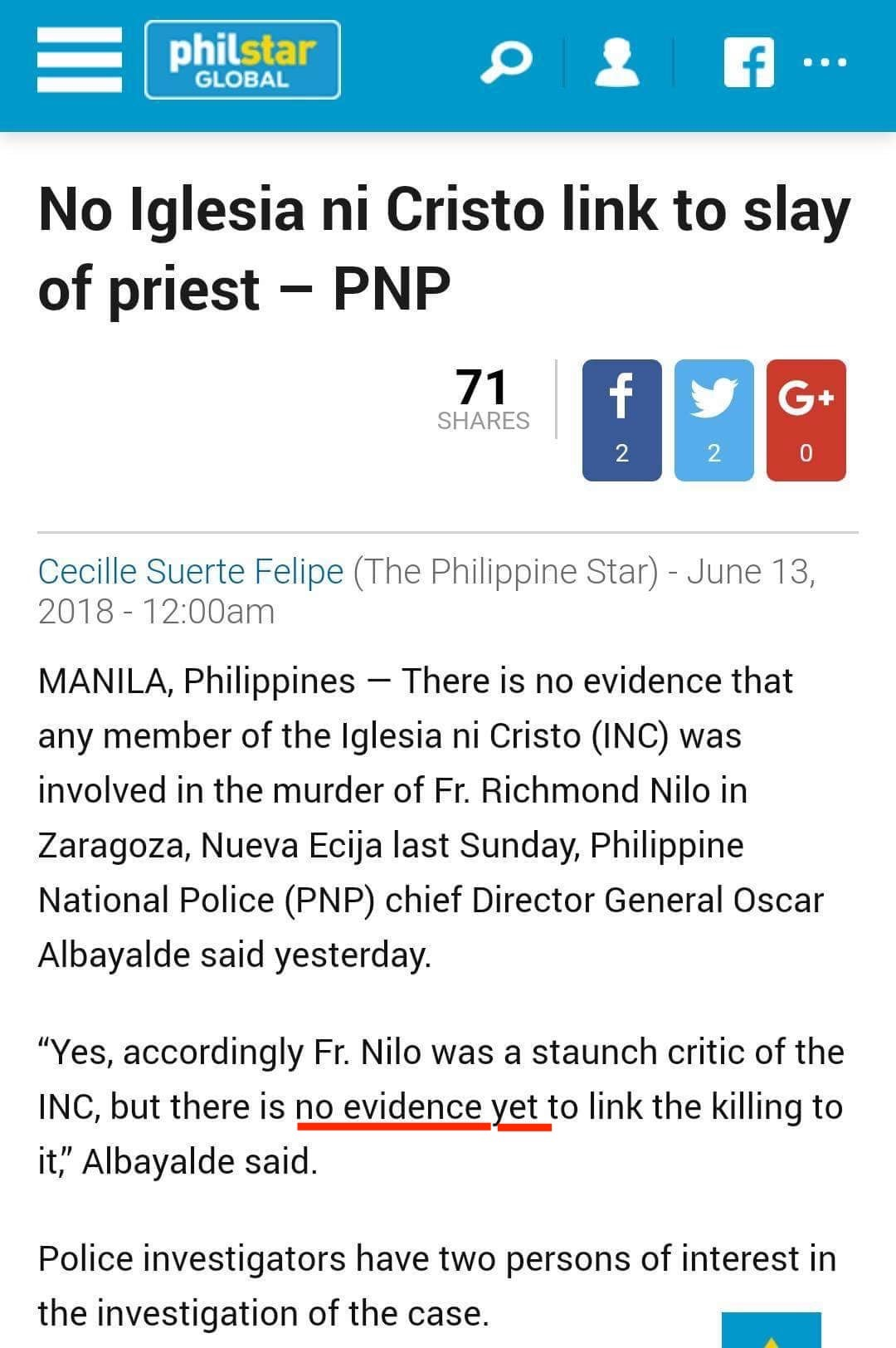 [2018.06.13] PhilStar Global News Report - No evidence.jpg